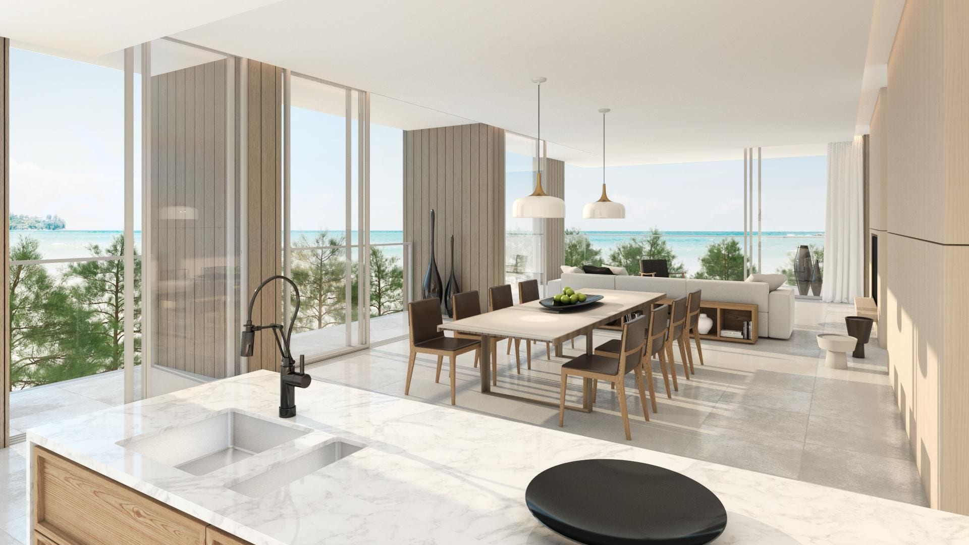 Roof Residence, Whole Floor Sea View Penthouse with Pool
