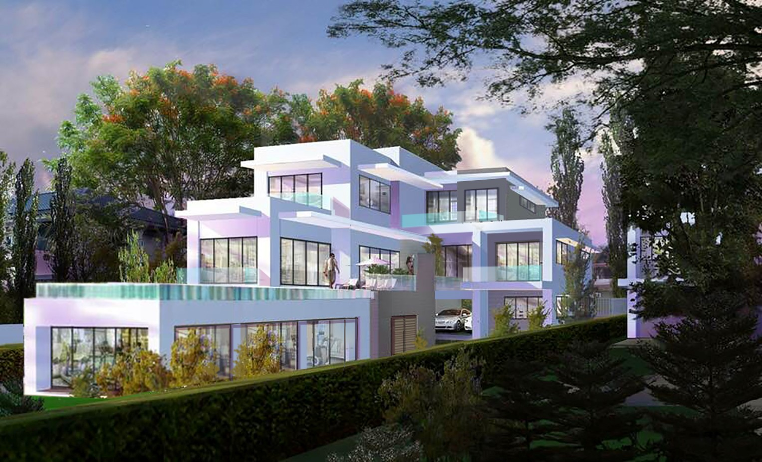 Modern 4 Bed Beachfront Pool Villa Under Construction Layan for sale